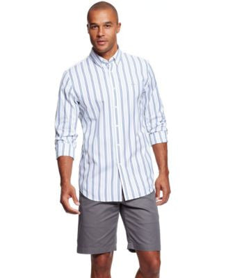 Lacoste Men's City Long Sleeve Striped Button-Front Shirt