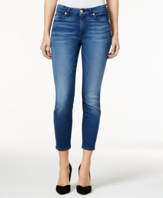 7 For All Mankind Ankle Skinny Medium Blue Wash Jeans