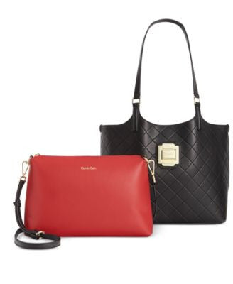 Calvin Klein Bag-in-Bag Quilted Tote and Convertible Crossbody