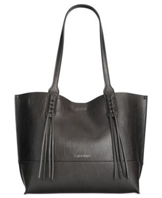 Calvin Klein Reversible Fringe Tote with Pouch