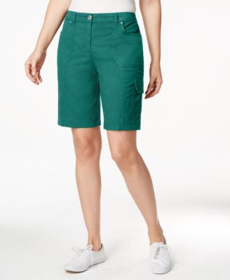 Karen Scott Solid Cargo Shorts, Only at Vogily