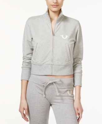 True Religion Zip-Front Cropped Track Jacket
