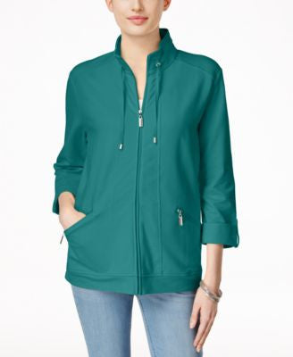 Karen Scott Lounge Zip-Front Jacket, Only at Vogily