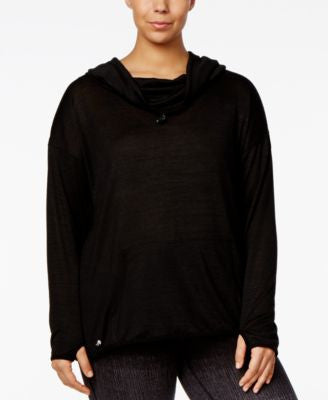 Ideology Plus Size Cowl-Neck Long-Sleeve Top, Only at Vogily