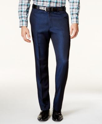 Alfani Men's Slim-Fit Navy Iridescent Pants, Only at Vogily