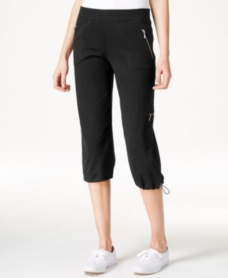 Style & Co. Cropped Bungee-Hem Pants, Only at Vogily