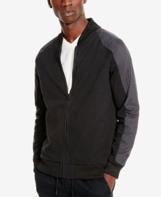 Kenneth Cole Reaction Men's Perforated Colorblocked Bomber Jacket