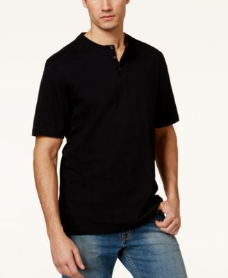 Tasso Elba Men's Big & Tall Heathered Henley, Only at Vogily