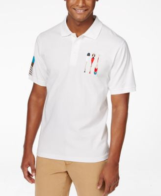 LRG Men's Paddle Team Graphic-Print Polo