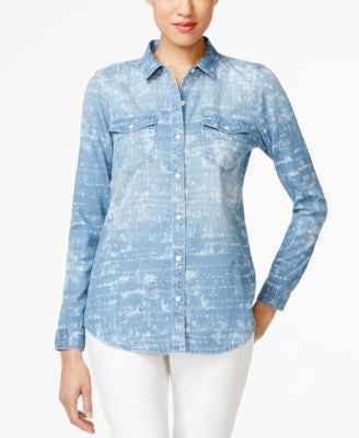 Calvin Klein Jeans Cloud Wash Denim Shirt