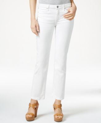 Calvin Klein Jeans Cropped Straight-Leg Jeans