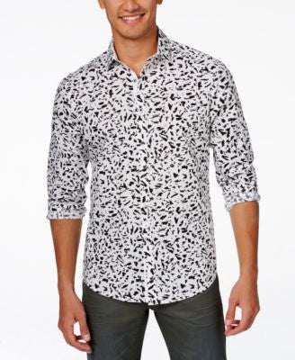 INC International Concepts Men's Long Sleeve Scott Shirt, Only at Vogily