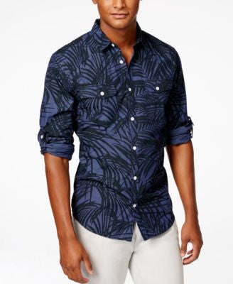 INC International Concepts Men's Long Sleeve Chester Shirt, Only at Vogily