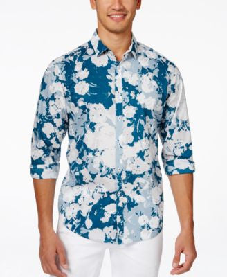 INC International Concepts Men's Long Sleeve Zimmer Shirt, Only at Vogily