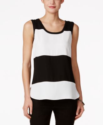 Nine West Colorblocked Sleeveless Top
