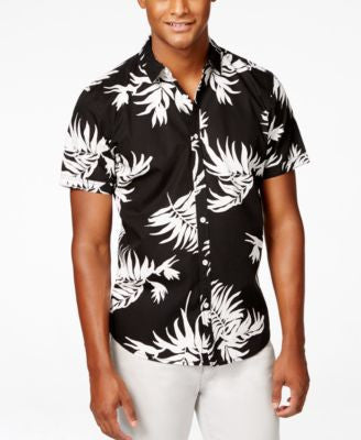 INC International Concepts Men's Chance Print Short Sleeve Shirt, Only at Vogily
