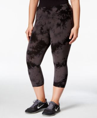 Calvin Klein Performance Plus Size Printed Cropped Leggings, Only at Vogily