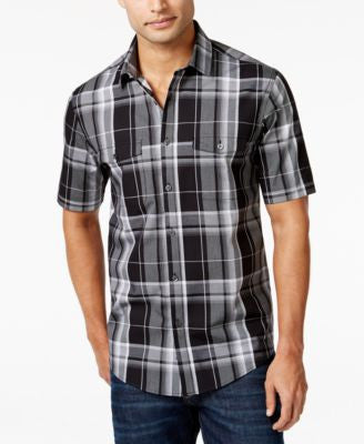 Alfani Big and Tall Plaid Short-Sleeve Shirt