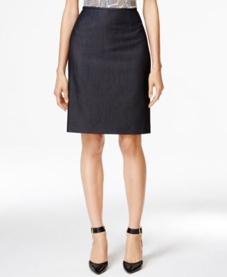 Tahari ASL Denim Pencil Skirt