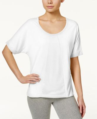 Jessica Simpson The Warm Up Juniors' Short-Sleeve Mesh-Inset Top, Only At Vogily