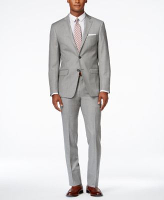 Calvin Klein Men's Extra Slim-Fit Light Grey Suit