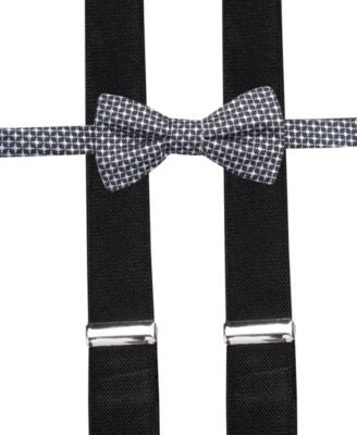 Alfani Spectrum Washington Neat Pre-Tied Bow Tie and Suspender Set, Only at Vogily