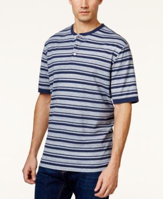 Weatherproof Vintage New Stripe Pique Henley Shirt