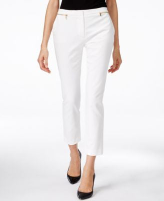 Calvin Klein Zip-Detail Ankle Pants