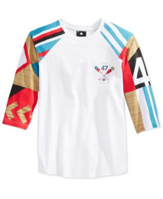 LRG Men's Paddle Team Graphic-Print Raglan-Sleeve T-Shirt
