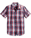 LRG Men's RC Plaid Poplin Short-Sleeve Shirt