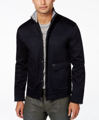Vince Camuto Men's Double Pocket Zip-Front Jacket