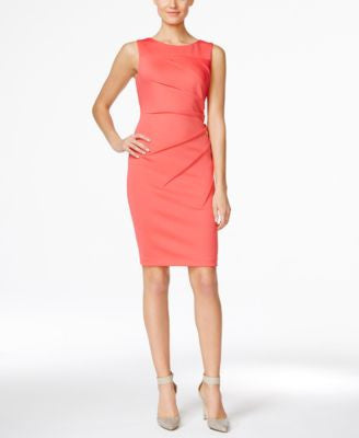 Calvin Klein Petite Starburst Sleeveless Sheath Dress