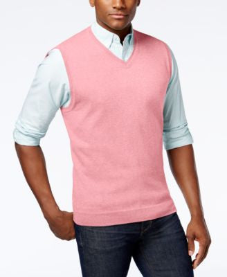 Club Room Men's Cotton Sweater Vest, Only at Vogily