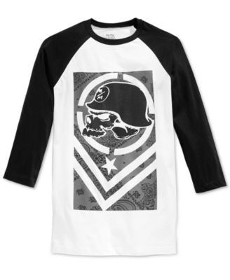 Metal Mulisha Men's Company Graphic-Print Logo Raglan-Sleeve T-Shirt