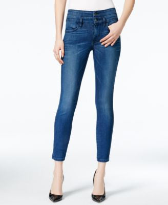 GUESS 1981 Lace-Up Cropped Skinny Brockett 2 Wash Jeans