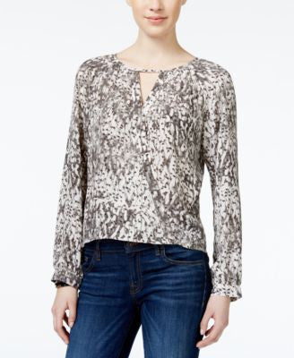 Bar III Printed Crossover Top, Only at Vogily