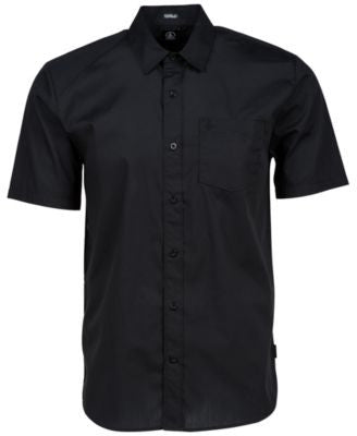 Volcom Men's Everett Solid Short-Sleeve Shirt