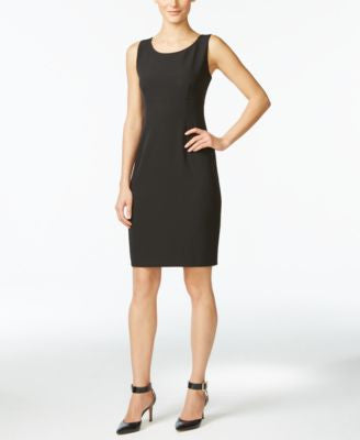 Kasper Petite Scoop-Neck Sheath Dress