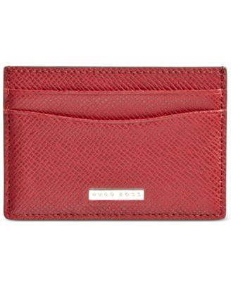 Hugo Boss Men's Signature Leather Card Holder
