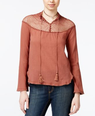 Free People On The Island Crochet Blouse