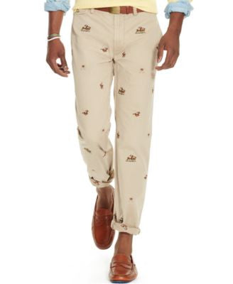 Polo Ralph Lauren Men's Straight-Fit Embroidered Chino Pants