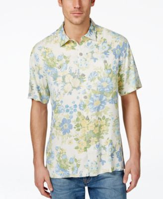 Tommy Bahama Men's Yarra Valley Floral-Print Silk Shirt