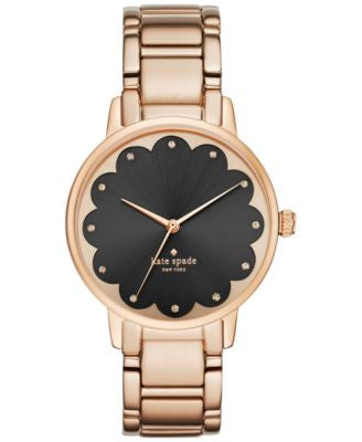 kate spade new york Women's Gramercy Rose Gold-Tone Stainless Steel Bracelet Watch 34mm KSW1044