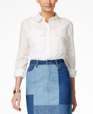 Vince Camuto Textured Utility Shirt