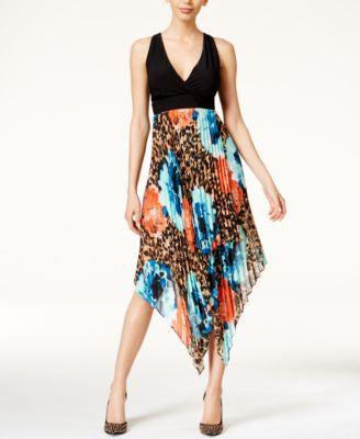 Thalia Sodi Printed Pleated Halter Dress, Only at Vogily
