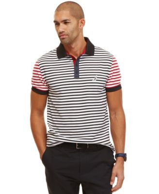 Nautica Men's Slim Fit Striped Polo Shirt