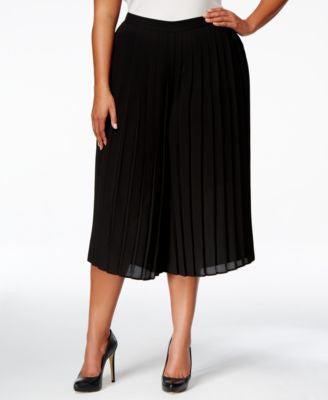NY Collection Plus Size Pleated Gaucho Pants
