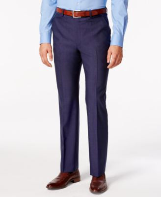 Lauren Ralph Lauren Men's Medium Blue Solid Slim Fit Pants