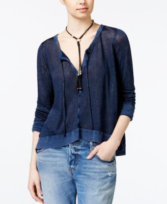 Free People Affogato Hacci Top
