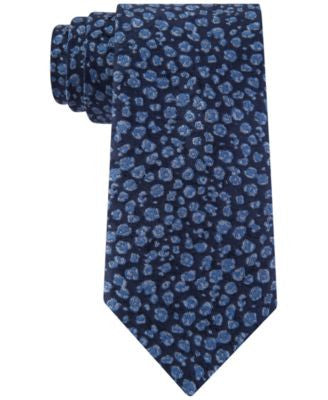 Tommy Hilfiger Men's Ink Flower Skinny Tie
